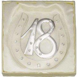 473-3037 Dekoracyjna podkowa szczęścia - osiemnastka