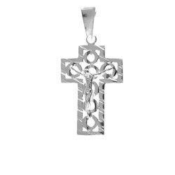 Krzyżyk srebrny z wizerunkiem Jezusa  MO082