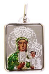 Medalik srebrny (1,8 g) - Matka Boska Częstochowska MK009