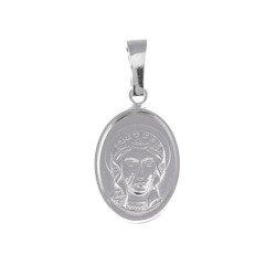 Medalik srebrny - Matka Boża Częstochowska Czarna Madonna M34