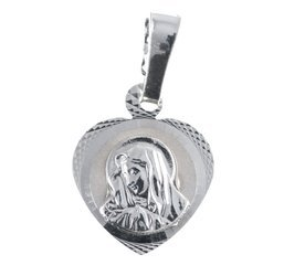 Medalik srebrny diamentowy -Matka Boska Bolesna MD46