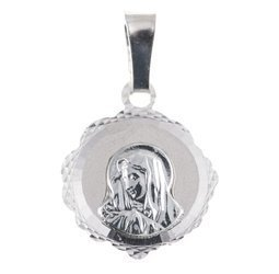 Medalik srebrny diamentowy -Matka Boska Bolesna MD58