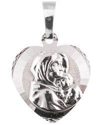 Medalik srebrny diamentowy -Matka Boska Cygańska (Wędrowna) II MD63