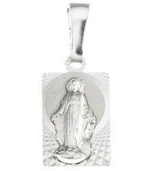Medalik srebrny diamentowy - Matki Bożej Niepokalanej Cudowny medalik MD44
