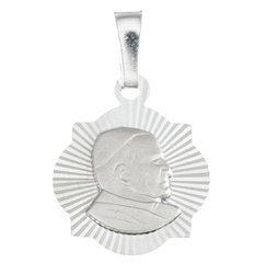 Medalik srebrny diamentowy - Papież Święty Jan Paweł II MD43