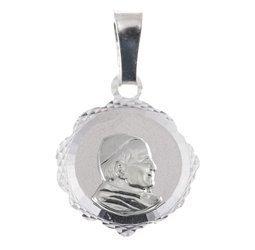 Medalik srebrny diamentowy - Papież Święty Jan Pawł II MD54