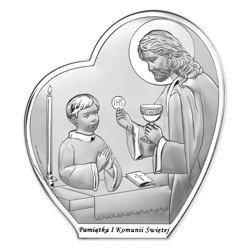Obrazek Srebrny Pamiątka I Komunii 6593BO