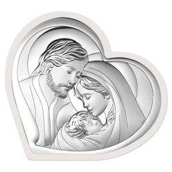 Obrazek Srebrny Święta Rodzina drewniana ramka 6432W