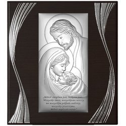 Obrazek Srebrny Święta Rodzina na Ślub 6380SSF