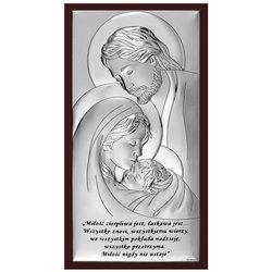 Obrazek Srebrny Święta Rodzina na Ślub 6380SSWM