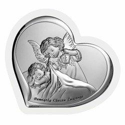 Obrazek srebrny Aniołek Pamiątka Chrztu Świętego 6449W