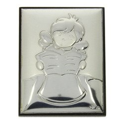 Obrazek srebrny Aniołek z księgą G7252