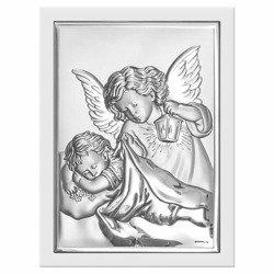 Obrazek srebrny Aniołek z latarenką 6325W