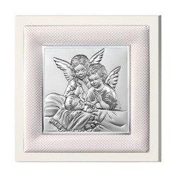 Obrazek srebrny Aniołki nad dzieckiem 750201P