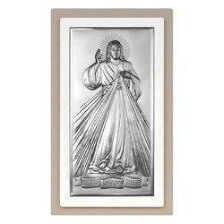 Obrazek srebrny Jezus Miłosierny – Jezu Ufam Tobie 6443TP