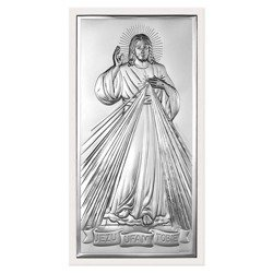 Obrazek srebrny Jezus Miłosierny – Jezu Ufam Tobie 6443W