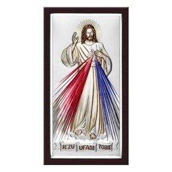 Obrazek srebrny Jezus Miłosierny – Jezu Ufam Tobie 6443WMCOL