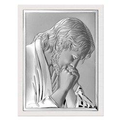 Obrazek srebrny Jezus modlący się 6522W