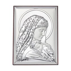 Obrazek srebrny Matka Boska z dzieciątkiem 31134