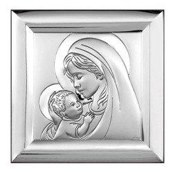 Obrazek srebrny Matka Boska z dzieciątkiem 6382