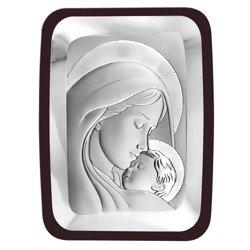 Obrazek srebrny Matka Boska z dzieciątkiem 6405WM