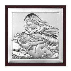 Obrazek srebrny Matka Boska z dzieciątkiem 6429WM