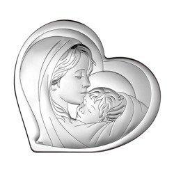 Obrazek srebrny Matka Boska z dzieciątkiem 6433