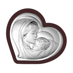Obrazek srebrny Matka Boska z dzieciątkiem 6433WM