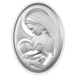 Obrazek srebrny Matka Boska z dzieciątkiem 6521W