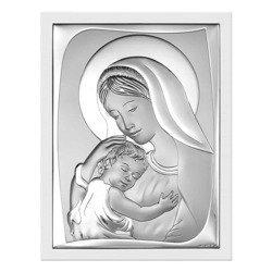 Obrazek srebrny Matka Boska z dzieciątkiem 6546W