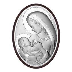 Obrazek srebrny Matka Boska z dzieciątkiem 6556WM