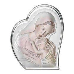 Obrazek srebrny Matka Boska z dzieciątkiem 81051COL