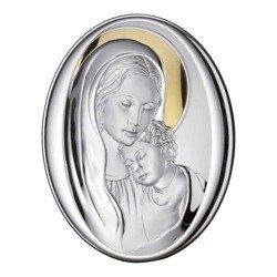 Obrazek srebrny Matka Boska z dzieciątkiem 81240
