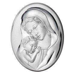 Obrazek srebrny Matka Boska z dzieciątkiem 81241