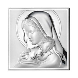 Obrazek srebrny Matka Boska z dzieciątkiem 81243