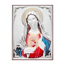 Obrazek srebrny Niepokalane Serce Maryi 309825DA