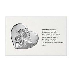 Panel Srebrny Aniołek nad dzieckiem 6479