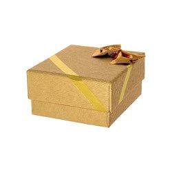 Pudełko na biżuterię z kokardą złote P40/1ZLOTE