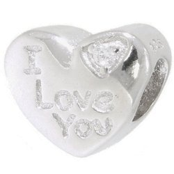 Srebrna przywieszka pr 925 Charms Serce I Love You PAN152
