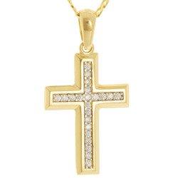 Złoty krzyżyk pr. 585 Krzyżyk ażur ZK044