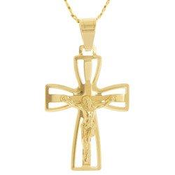 Złoty krzyżyk pr. 585 Krzyżyk z Jezusem  ZK055