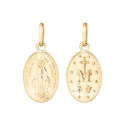 Złoty medalik pr. 585 Cudowny medalik M.B. Niepokalana ZM016