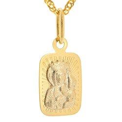 Złoty medalik pr. 585 M.B. Częstochowska prostokąt ZM049