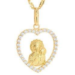 Złoty medalik pr. 585 Matka Boska Częstochowska  ZM102
