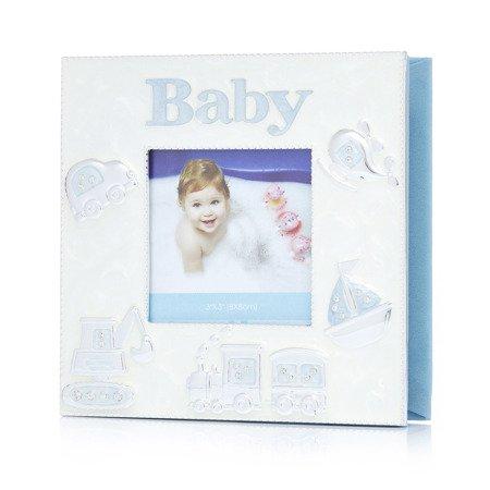 473-3231 Album dziecięcy z masy perłowej - niebieski