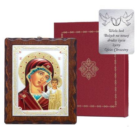 Ikona srebrna Matka Boska Kazańska 31175LADA