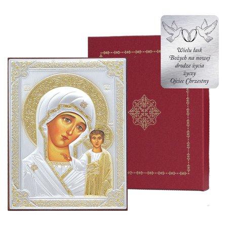 Ikona srebrna Matka Boska Kazańska 31175OROA