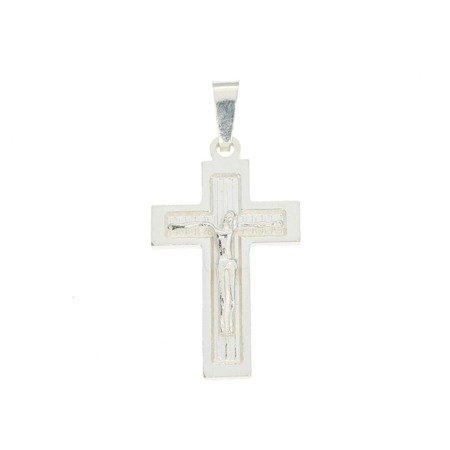Krzyżyk srebrny z wizerunkiem Jezusa MO140
