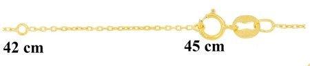 Łańcuszek Celebrytka - KÓŁKO PEŁNE GŁADKIE OKRĄG POZŁACANA srebro pr 925 CEL50