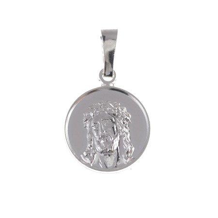 M78 Medalik srebrny - Jezus w koronie cierniowej